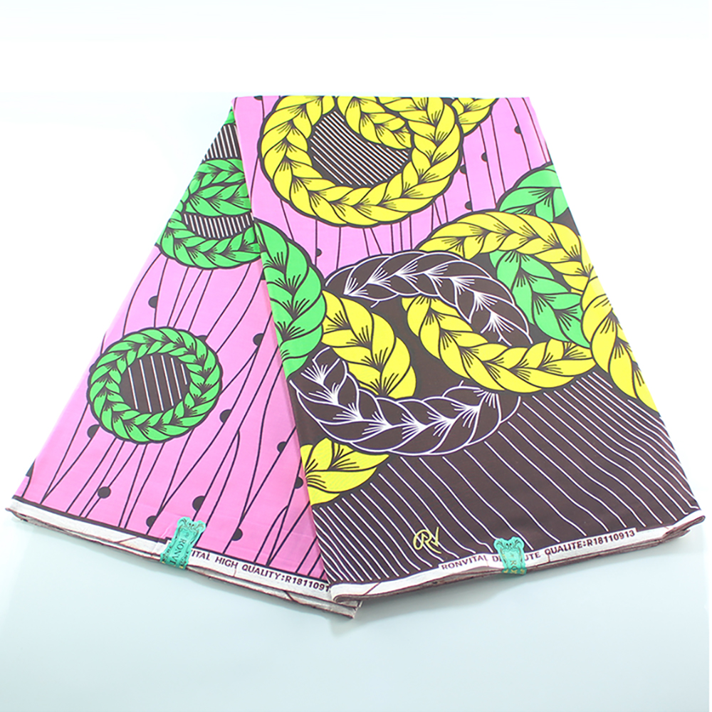 100% Cotton Wax Africain Fabric Pagne African Ankara Real Veritable Wax For Square Printed Patchwork Sewing Nederlands