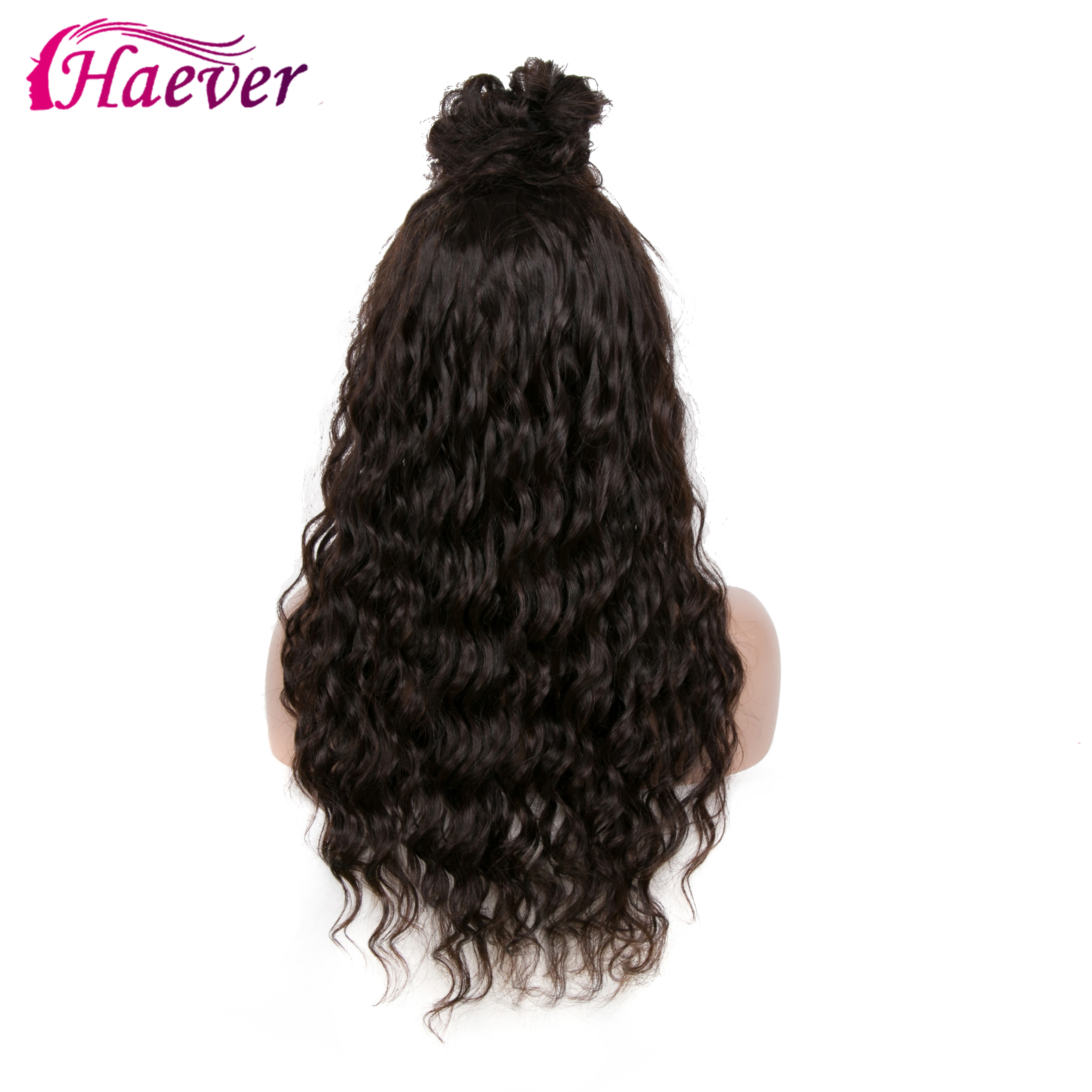 Haever 13x4 Water Wave Human Hair Lace Front Wigs New Hair Glueless Lace Wigs With Baby Hair Peruvian Wig Pre Plucked 180%  Remy