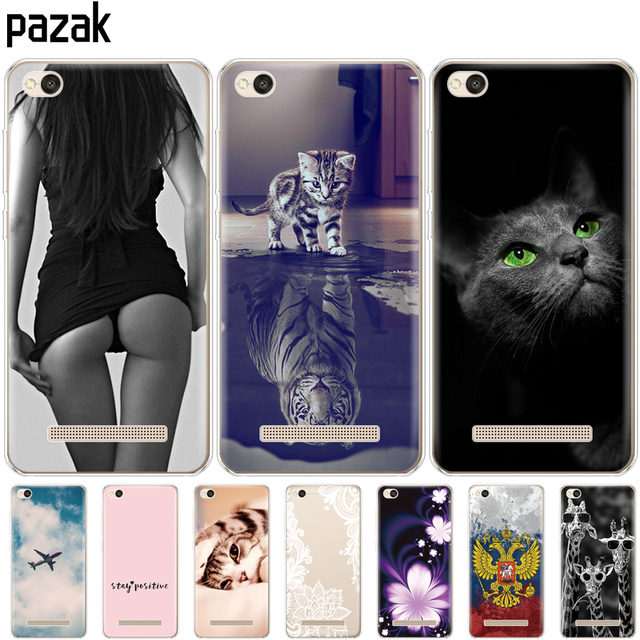 """Silicone phone Case For Xiaomi Redmi 4A cases Soft Silicon Painting cover for Redmi 4A Hongmi 4a 5.0 """" inch full 360 Protective"""