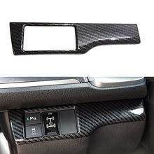 Fiber de carbone ABS Style phare bouton de commutation couverture garniture pour Honda Civic 10th X 2016 2017 2018 2019 2020