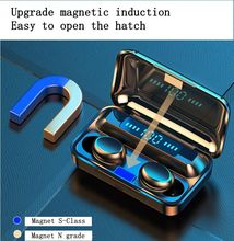 In-ear wireless Bluetooth headset Binaural smart TWS touch 5.0 sports Bluetooth headset colorful fingerprint touch magnetic indu