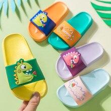 Summer Dinosaur Slippers For Boys Girls Cute Cartoon House Shoes Toddler Non-Slip Beach Slipper Kids Home Flip Flops Pantuflas