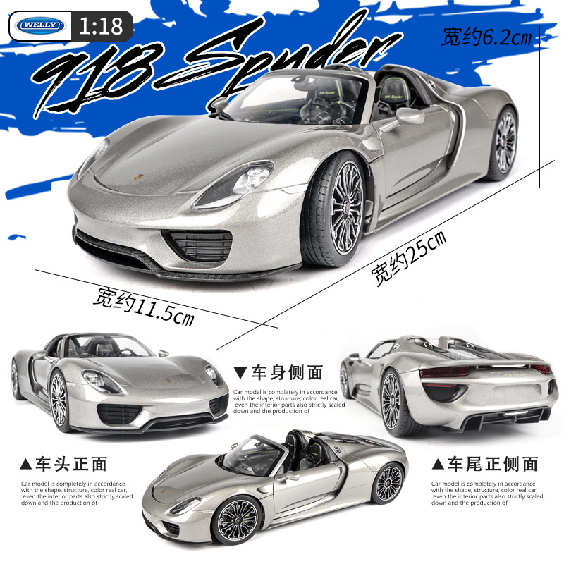 welly 1 18 Porsche 918 super run alloy car model simulation car decoration collection gift toy Die casting model boy toy in Diecasts Toy Vehicles from Toys Hobbies