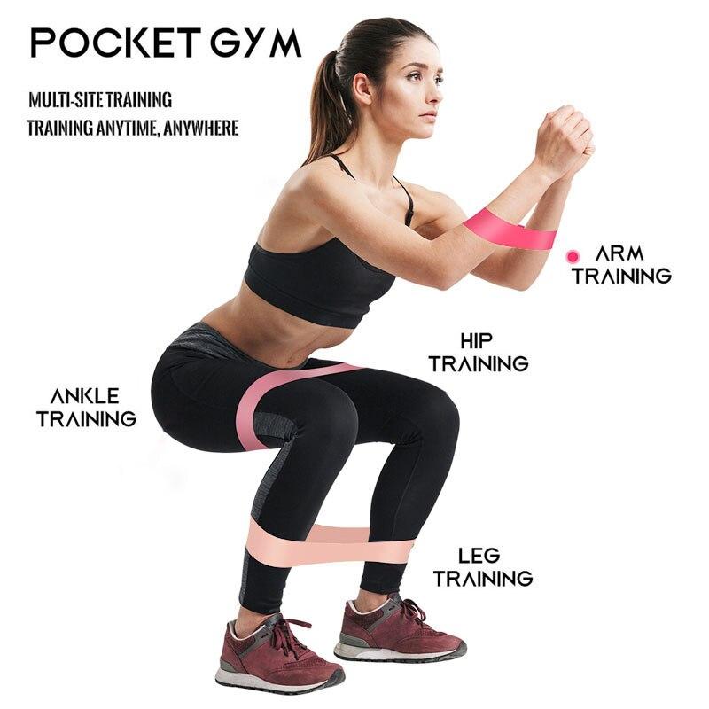 5 copë / sete shirita gome fitnesi band elastik për stërvitje yoga - Bodybuilding dhe fitness - Foto 4