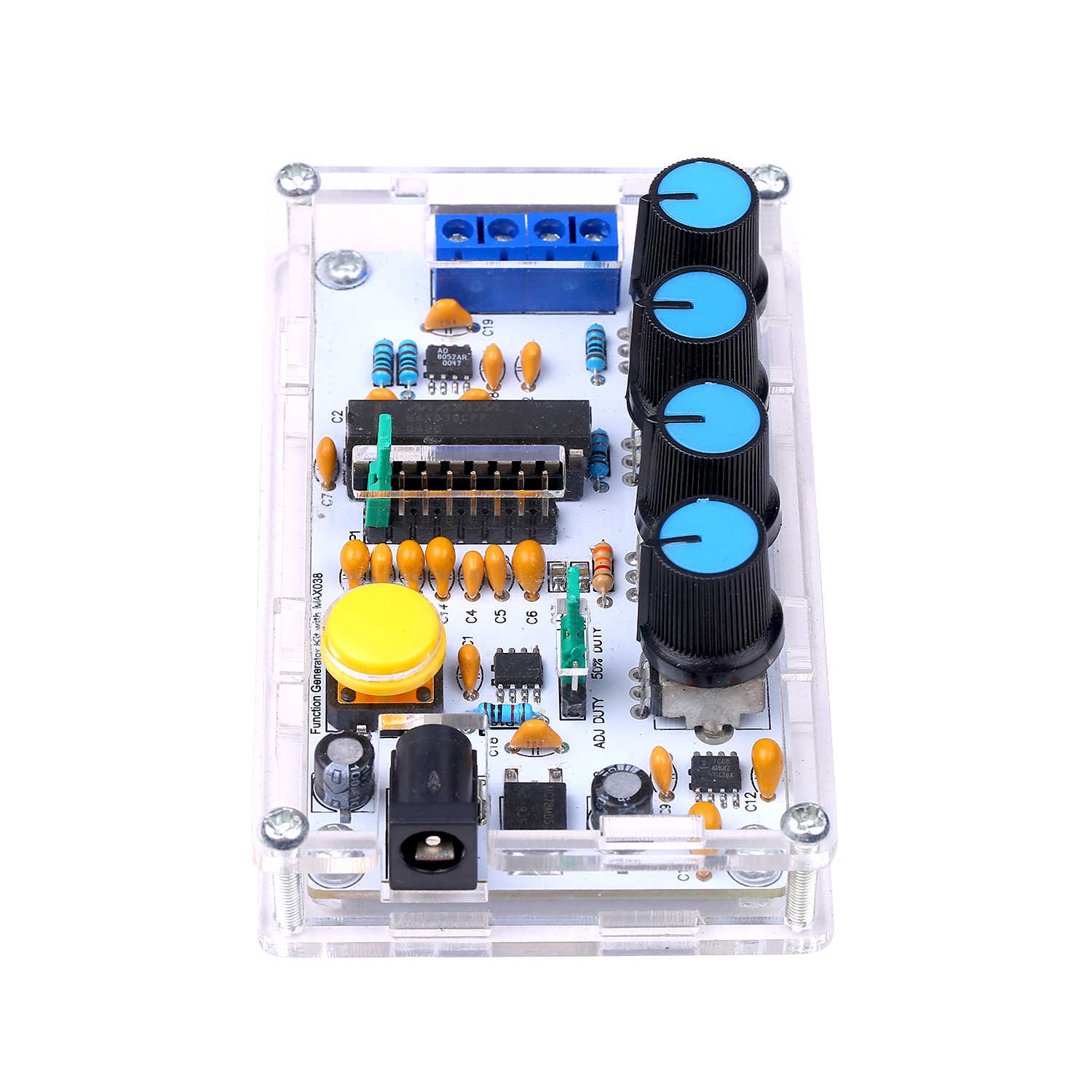 1Hz 1MHz XR2206 Function Signal Generator DIY Kit Sine//Triangle//Square Output Signal Generator Adjustable Frequency Amplitude
