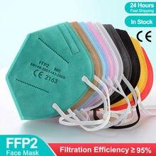 Ffp2 mascarillas kn95 máscara mascherine fpp2 máscaras de boca 5 camada filtro protetor mascarillas ffp2reutilizabl fpp2 kn95 ffp3mask