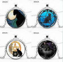 LIAOZEKUN,2019 / New Kitty Five-pointed Star Magic Cat Vintage Necklace Men and Women Jewelry