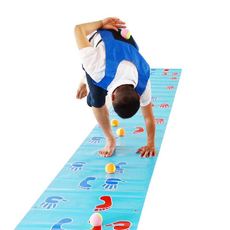 With Hands And Feet Rush Game Mat Team Expand Props Douyin Outdoor Training League Building Fun Games