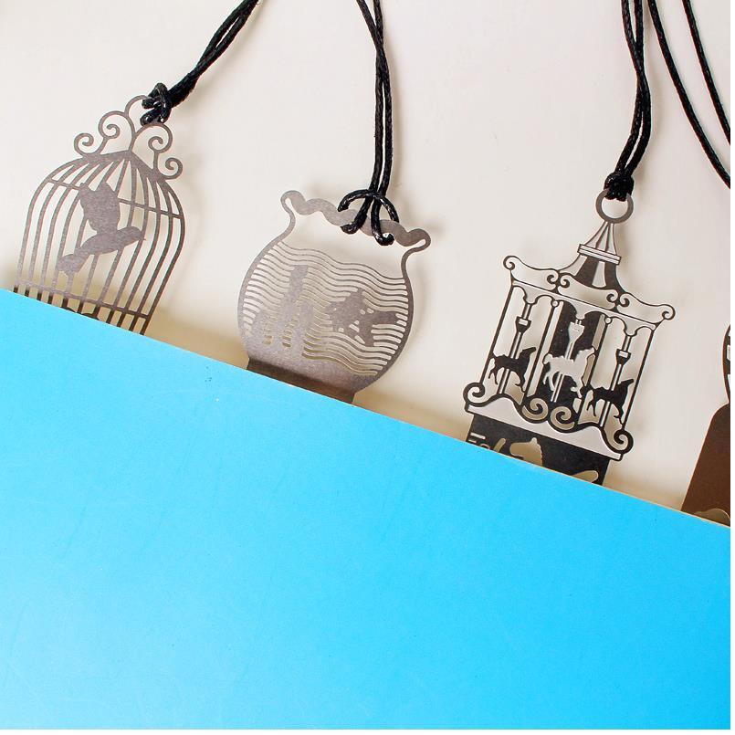 Полые металлические ретро закладки papelaria закладки поставки книга Линейка Канцелярские скрепки офис boekenleger школа 4 шт./партия