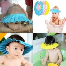 Hats Shower-Caps Ear-Protection Waterproof Bath-Visor Adjustable-Shield Wash-Hair Infant