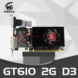 Veineda Card Đồ Họa GT610 2GB 64Bit DDR3PC Để Bàn Loại Card Đồ Họa PCI Express 2.0 Máy Tính Loại Card Đồ Họa Cho NVIDIA GeForce