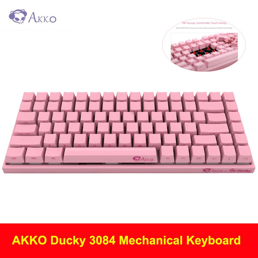 AKKO Ducky 3084 Mechanical Keyboard Cherry MX Switch Compact 84 Keys 85% PBT Keycap USB Type-C Wired Mechanical Keyboard