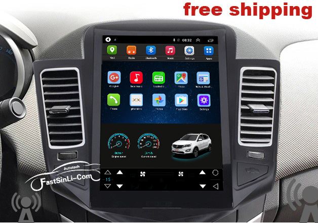 Image 2 - 1 Car Android8.1 for Chevrolet Cruze 2006 2014 Multimedia Player GPS Navigation Vertical screen 1Car Multimedia Player   -
