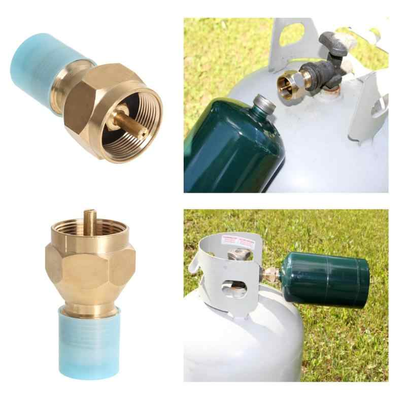 Metal Camping LP Gas Propane Tank Connection Adapter Coupler for Two Stoves