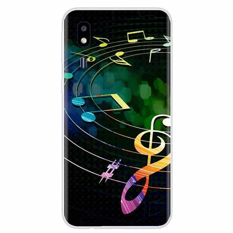 Pour Samsung Galaxy J1 J2 J3 J4 J5 J6 J7 J8 Plus 2018 Prime 2015 2016 2017 étui souple en TPU Notes de musique violon musique classique Art