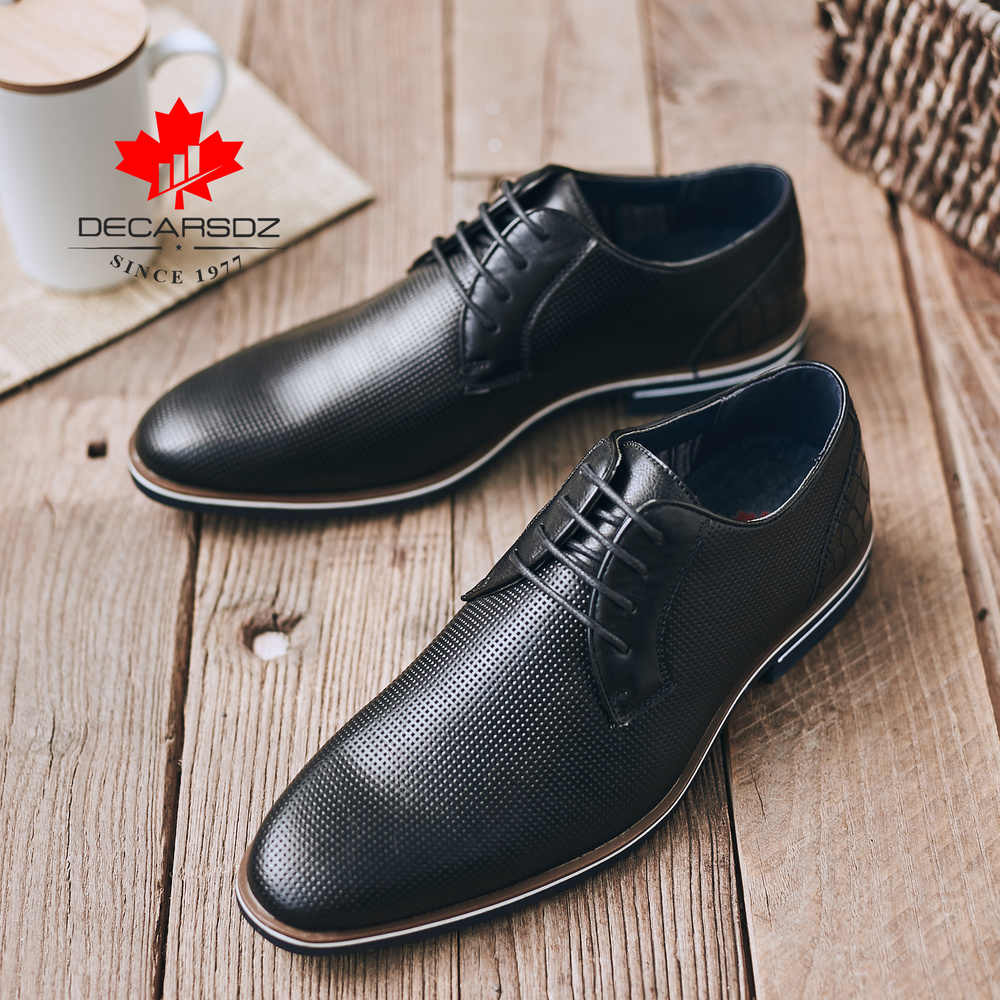 Men S Casual Shoes 2020 Spring New Fashion Brogue Leather Shoes