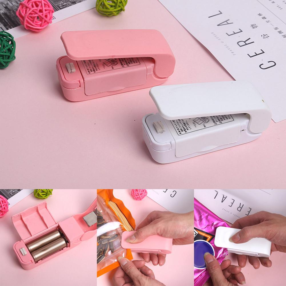 Portable Mini Heat Sealing Machine Press Sealer Seal Packing Plastic Bag Tool For Airtight Food Storage Saver Reseals Snack Bags