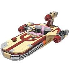 Luke's X-34, Soro, Suub, Land speedder Fight, bloques de construcción, figura de héroe, MOC-41385, Airship, juguetes de Navidad, regalo de cumpleaños