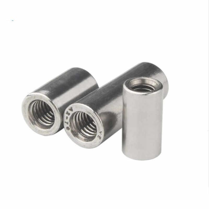 Size : M12x18x50 Nuts Nails 2PCS Screws 2pcs A Lot M6 M8 M10 M12 M14 Stainless Steel Long Round Nut Screw Rod Nut Nut Column
