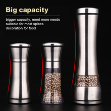 Pepper-Grinder Salt Glass 304-Stainless-Steel Thick Top And Adjustable Easy-To-Use Body