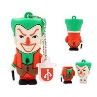 Joker-Pendrive personalizado para niños, Memoria USB 128, 64, 8 gb, 4GB, 8 GB, 32GB, 16GB, 128GB, 256GB, Usb 2, regalo