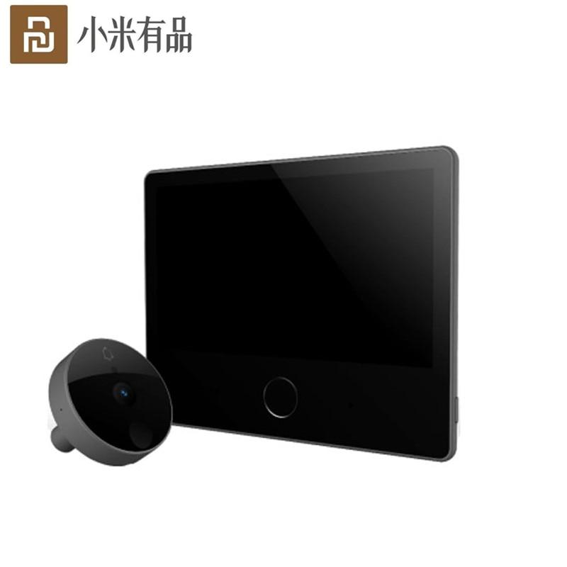 Stock Youpin Luke Smart Door Video doorbell Cat Eye Youth Edition CatY Gray For Mijia App Rechargable IPS Display Wide AngleSmart Remote Control   -