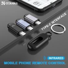 Coolreall interfaz de Control remoto por infrarrojos para TYPE C, Control remoto inalámbrico Universal para teléfono móvil Samsung, Huawei, Android