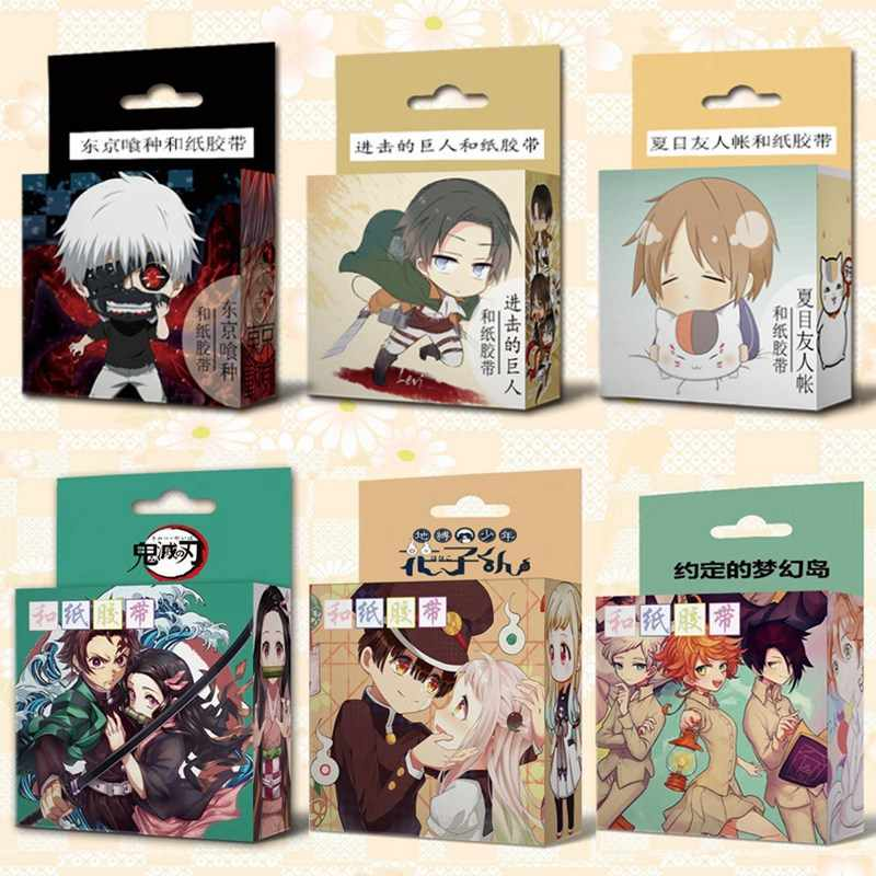 1.5 Cm * 5 M Anime Wc-Gebonden Hanako-Kun Anime Demon Slayer Washi Tape Plakband Diy scrapbooking Sticker Label Afplakband