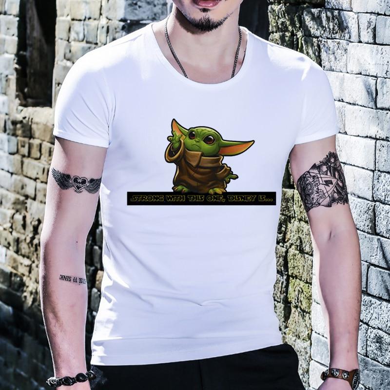 2020 Yoda Mandalorian T Shirt Men Woman Fashion Lovely Baby  Star Wars T-shirt Short Sleeved Leisure Tshirt Words Of Wisdom Tops