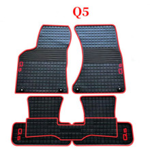 Custom Rubber Car Floor Mats for Audi Q2 A3 Q5 Q7 2006-2020 Year No Odor Non Slip Waterproof Carpets for audi q7 2015 2019 rubber floor mats into saloon 5 pcs set seintex 86854