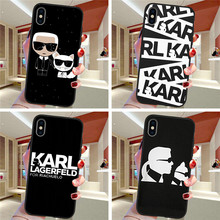 Karl Lagerfeld For iPhone X XR XS Max 5 5S SE 6 6S 7 8 Plus Oneplus 5T Pro 6T phone Case Cover Funda Coque Etui funda capa cute karl lagerfeld for iphone x xr xs max 5 5s se 6 6s 7 8 plus oneplus 5t pro 6t phone case cover funda coque etui funda capa cute