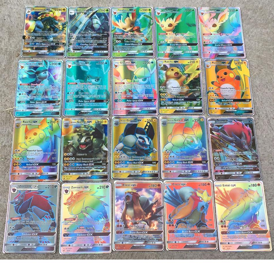 No Repeat 200 Pcs For Carte Pokemon Cards Gx Shining Game Battle Carte Card Game For Children Toy