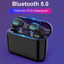 Bluetooth Earphones 5.0 Wireless Headphones Blutooth Headset Sport Earbuds Stereo Handsfree Headphone With Mic Charging Box 1500