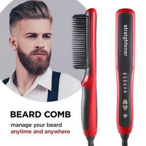 Men Beard Straightener Hot Heating Comb Hair Straightener Brush Mutifunctional Hair Comb Smoothing Brush Hair Straightening Iron