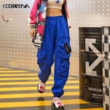 Trouser Cargo-Pants More-Pockets Harajuku Sport Casual Women Ladies Warm Skateboard Hip-Hop