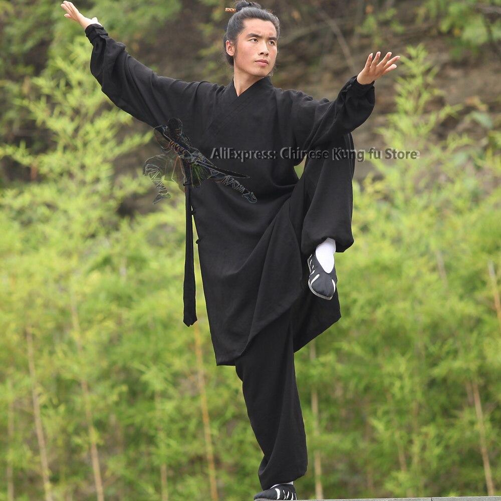 Индивидуальный заказ 25 цветов Wudang Taoist Monk халат Тай Чи Униформа Китайский кунг-фу одежда костюмы для боевых искусств куртка и брюки