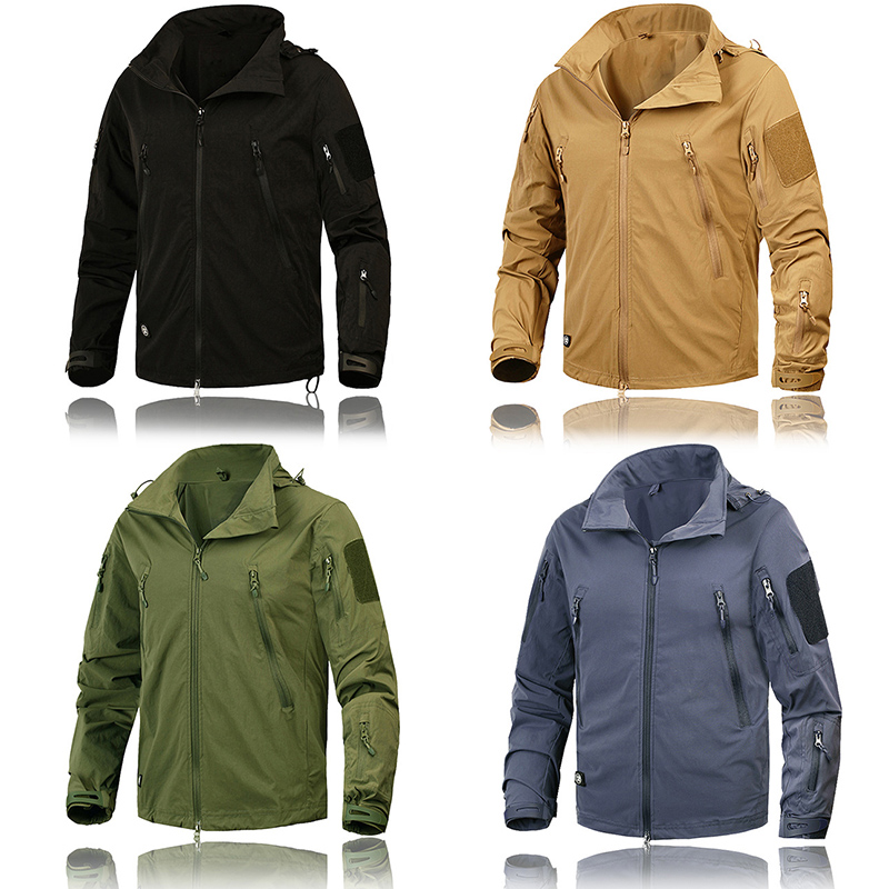 Brand Clothing New Autumn Jacket Men Coat Military Clothing Tactical Outwear US Army Breathable Nylon Light Windbreaker 2019 New