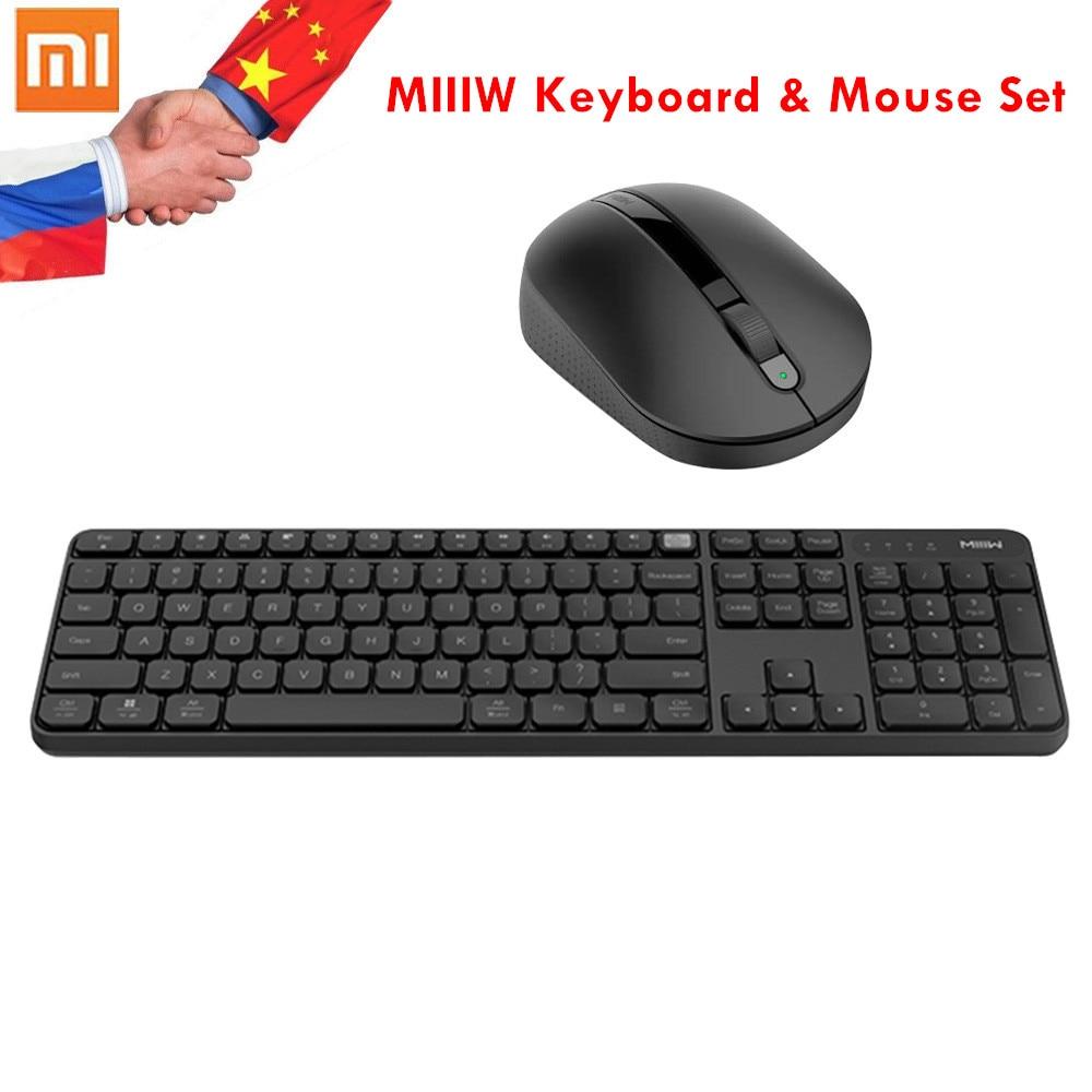 Original Xiaomi MIIIW Wireless Office Keyboard & Mouse Set 104 Keys 2.4GHz Windows PC MAC Compatible Wireless Portable Keyboards