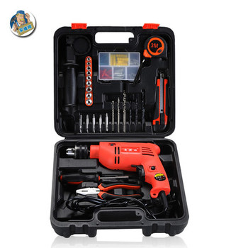 An Jieshun Multifunctional High Power Stepless speed change Electric Impact Drill Electric Hammer Dual-use Positive Negative Rot impact drill dual use gasoline power hammer