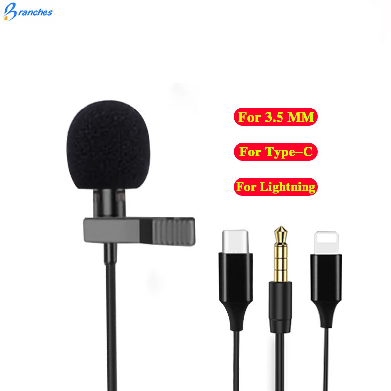 Mini USB Microphone Lapel Lavalier PC / Phone / Camera Mic Portable External Buttonhole Microphones for iPhone Laptop Computer