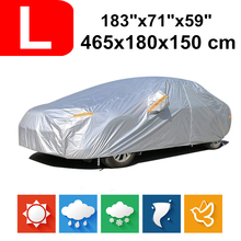 465*180*150cm Universal Saloon Sedan 190T Waterproof Car Covers Dust Rain Snow UV Protection For Audi A4 Alfa Fiat Benz C class