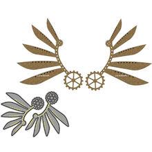 Металлическая Форма для резки, классные штампы в стиле стимпанк с крыльями, скрапбукинг, «сделай сам», карточка, бумажный нож, форма, лезвие, ...