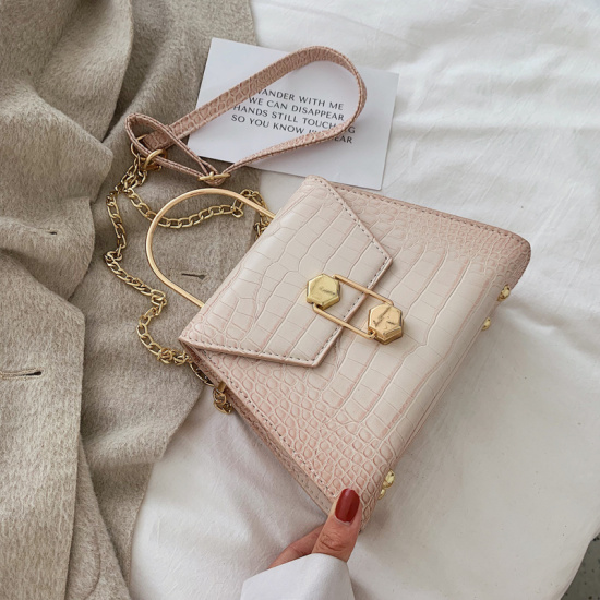 Stone Pattern PU Leather Crossbody Bags For Women 2020 Small Totes With Metal Handle Lady Shoulder Messenger Bag Handbags
