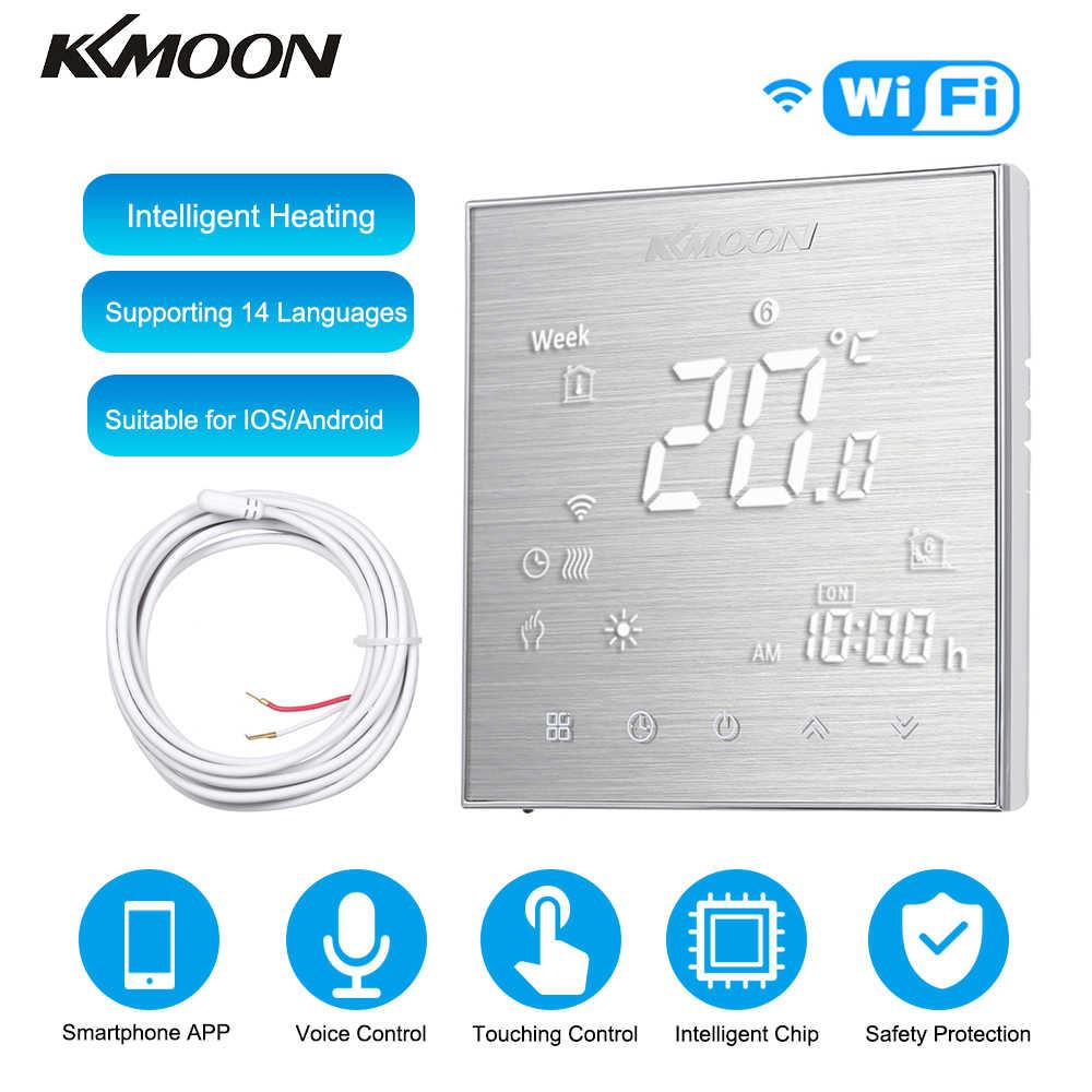 KKmoon dijital yerden isıtmalı termostat elektrikli ısıtma sistemi için zemin hava sensörü WiFi ev odası sıcaklık kontrol cihazı
