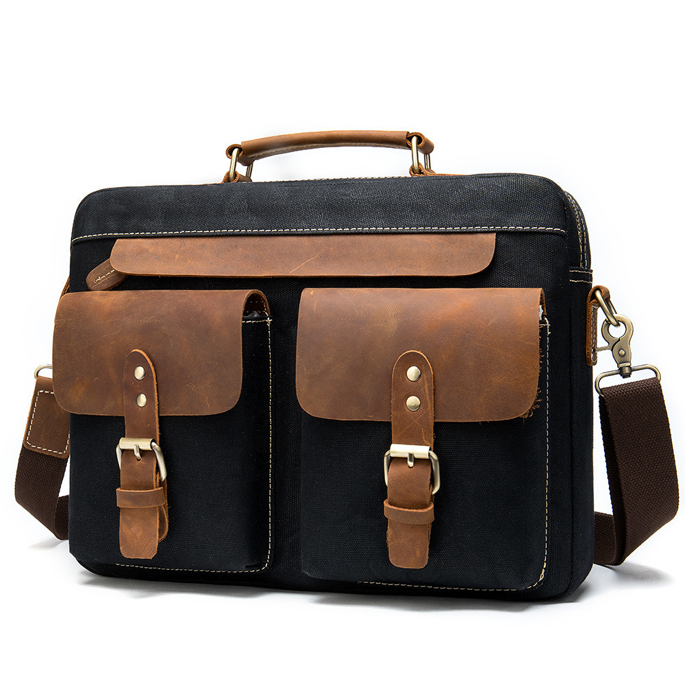 Handbag Cowhide Briefcase Business Affairs 14 Inch Computer Male Package Genuine Leather Laptop Messenger Office Bags For Men