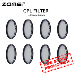 ZOMEI  CPL 40.5 mm 49mm 52mm  58mm  62mm  67mm  72mm  77mm  82mm 86mm  polarizer filter  for camera lens
