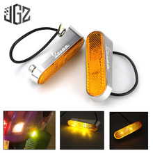 Motorcycle LED Side Turn Signal Lights CNC Indicator Left Right Lamp For VESPA GTS 300 GTV SPRINT PRIMAVERA 150 Scooter Modified