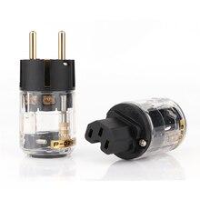 Par de conector IEC para cable de alimentación de audio, P 029E/C 029 de alto rendimiento, versión europea