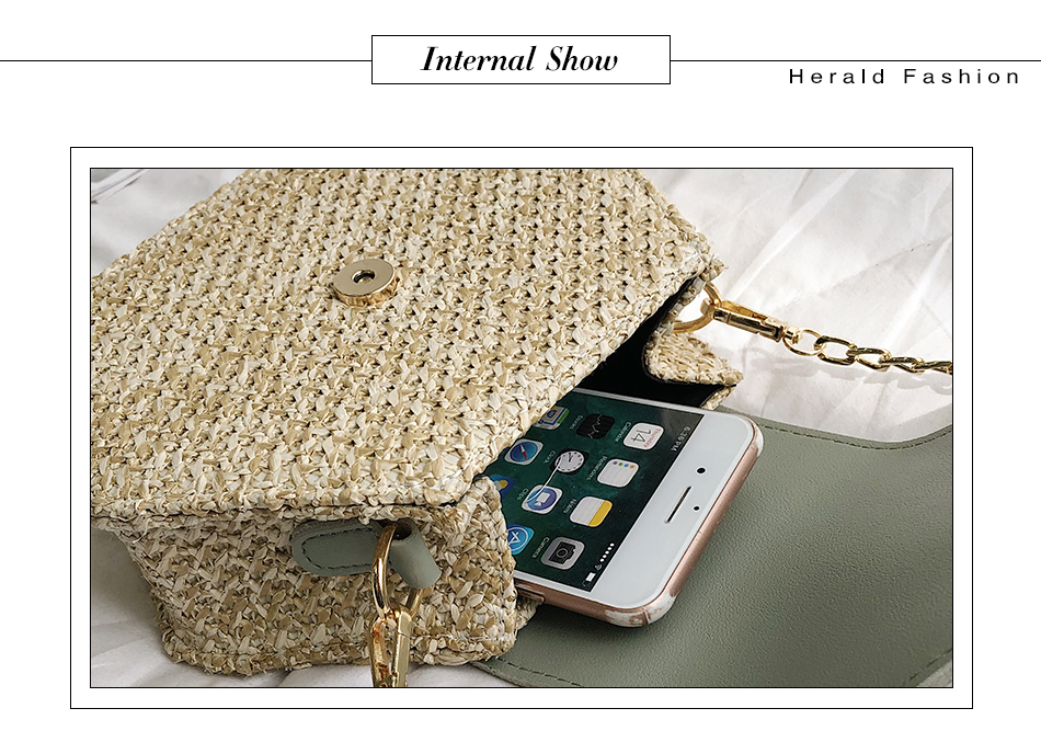 He06ad740ad3b42efade3eb9f4bd8d84aK - Mulit Style Straw leather Handbag Women Summer Rattan Bag Handmade Woven Beach Circle Bohemia Shoulder Bag New Fashion