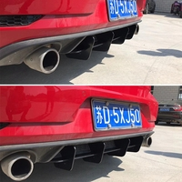 Rear Lip diffuser Trim Cover For Volkswagen VW Golf VII MK6 GTI Fins Shark Style ABS Bumper Protector Car Styling(MK6 GTI only